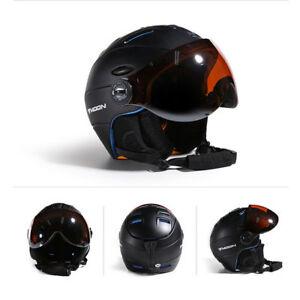 Outdoor Visor Ski Snowboard Helmet Detachable Snow Integrated Goggle Shield