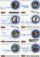 James Bond The Quotable James Bond Autograph Card Lot 10 Cards 2004