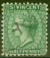 St Vincent 1884 1/2d Green SG42 Fine Used