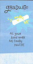 Graduation Diploma Cash Gift Money Holder For Graduate Hallmark Greeting Card
