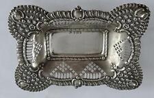 Sterling Silver Art Nouveau Dish, Card Tray: Birmingham 1903