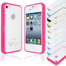 Wholesale 10pcs/lot TPU Bumper Case Cover W/ Matte Back for iPhone 4S (10 Color)