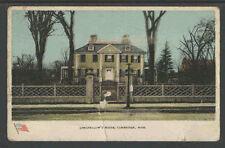 1912 LONGFELLOW'S HOUSE CAMBRIDGE MASS POSTCARD FLAG AT BOTTOM