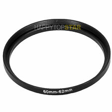 60mm to 62mm 60-62 Male to Female Photo Step-Up Lens Filter Ring Adapter Adaptor