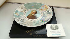 BOXED 1985-6 WEDGWOOD QUEENS WARE  PLATE FOR THE RETURN OF HALLEY'S COMET