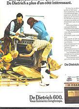 PUBLICITE  1970   DE DIETRICH  600    cuisinière  éléctroménager