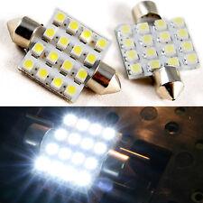 2 White Led Bulbs 36mm Festoon Dome Map Lights Interior