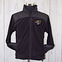 eBay Logo Inventors Club Medium Port Authority Black Full Zip Fleece Jacket Coat