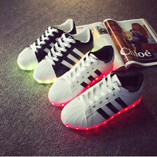 Unisex LED Light UP Shoes Trainers Men Women Boys Girls Flashing Casual Sneakers