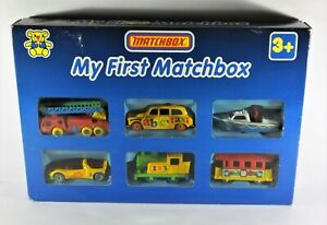 Matchbox 1990 My First Cars x 6 model Diecast Rare and Original Box LL-116