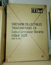 SIDESHOW G.I. JOE COBRA COMMANDER DIORAMA SHIPPER SEALED !!! WOW NEW #004 LOW
