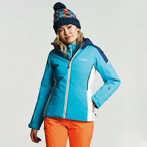 Dare2b Womens CONTRIVE AQUA/BLUE WING Ski Jacket Ladies NEW SIZES 10 - 16 UK