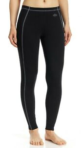 NWT $54 Hot Chillys Women's MTF 4000 Black Base Layer Ankle Tights XSmall HC9358