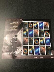US FDC 3384-88 Hubble Space Telescope Images Souvenir Sheet Of 20 Stamps 2000