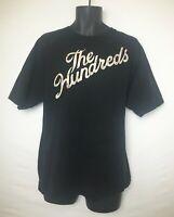 The Hundreds Men's Black Short Sleeve T-Shirt w Tan & Floral Logo Front. Sz XL