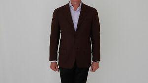 BORRELLI Napoli Sakko Gr. 50 Braun Neuwertig Jackett Wolle