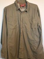 Simms Bugstopper NFZ Long Sleeve Shirt ~ Birch  NEW ~ Closeout Size XL