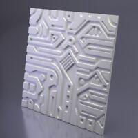 *EX-MACHINA B* 3D Decorative Wall Panels 1 pcs ABS Plastic mold for Plaster