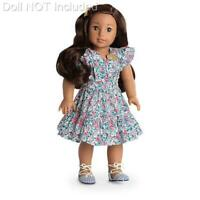 American Girl Nanea School Outfit~Dress~Sandals~Hawaiian Floral Print~Barrette