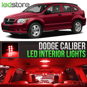 2007-2012 Dodge Caliber Red Interior LED Lights Kit Package