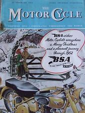 THE MOTORCYCLE MAGAZINE DEC 1951 BENEVOLENT FUND CIRCUITS STORY OF BLACK BESS