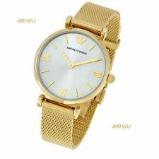 Emporio Armani Women's AR1957 Retro Analog Display Quartz Gold Tone Watch