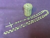 *Vintage Religious Twisted Wire Rosary with matching Twisted Wire Basket Holder
