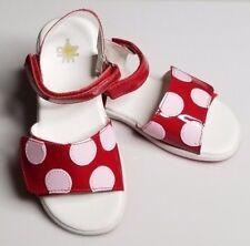 NWB NATURINO Desi Sandal Toddlers Girls Little Kid RED polka dot  Sz 11