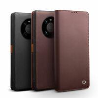QIALINO Echt Leder Flip Wallet Schutzhülle Case Cover f Huawei Mate 40 Pro/ Plus