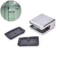 """Stainless Steel Square Clamp Holder Bracket""""Clip For Glass Shelf Handrails 6-8mm"""