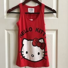 Hello Kitty Womens Red Tank Tops size 8 NWT A0430