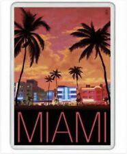 MIAMI - JUMBO FRIDGE MAGNET - FLORIDA KEYS DOLPHINS DADE COUNTY