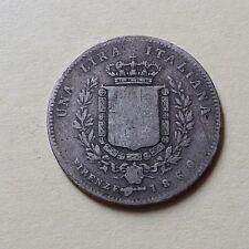 1 LIRA VITTORIO EMANUELE RE ELETTO  1860 MEDIOCRE     01/18