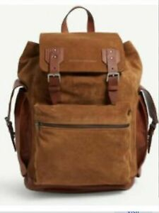 $3795 Brunello Cucinelli Leather Backpack Bag color Brown