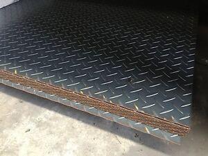 BOX CAR BIKE TRAILER FLOORING 1500x1200x2.1MM CHEQUER PLATE FULL SHEET CHEAP