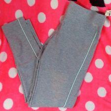Victoria's Secret PINK Ultimate Yoga Leggings Medium NWT Light Gray/Blue Stripe