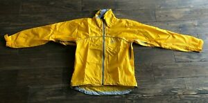 Performance Bicycle Light Jacket full Zip Windbreaker Size S Yellow Nylon