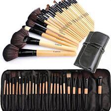Cadrim Professional Makeup Brushes 24 pcs Natural Hair Cosmetic Brush Set Travel