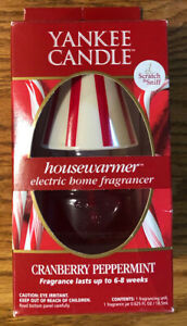 Yankee Candle Housewarmer Electric home Fragrance Cranberry Peppermint with box