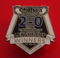 Danbury Pin Badge Chelsea FC Football Club v Tottenham League Cup Winners 2015