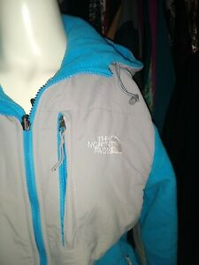 The North Face Women's M blue/gray Coat Jacket Zip Up