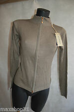 GILET  ZIPPEE JUST WOMAN S/36  KNIT/SUETER/MAGLIONE NEUF STRECH  WOOL BLEND