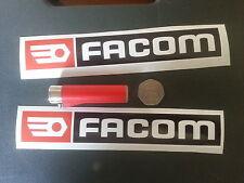 Pair Facom Racing Sticker Toolbox Print Decal Motorsport Car 8'' Red Black P1P