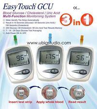 EasyTouch GCU Glucose Cholesterol & Uric Acid Blood 3 in 1 Monitoring Tester