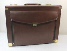 Vintage Airway Sman Doctor Pilot Briefcase Attache Bag Case
