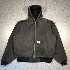 CARHARTT Mens Thermal Lined Active Jacket Large J03 Vintage Made In USA Black