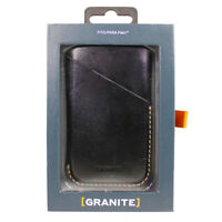 Granite Leather Sleeve Rugged Cover Case For Palm Phone - Black
