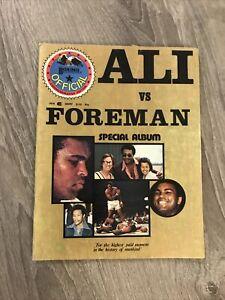 1974 Muhammad Ali vs George Foreman Boxing Special Album Commemorative Magazine
