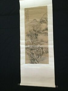 Early 20th Century Chinese Scroll Painting on Paper.