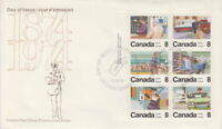CANADA #634-639 8¢ LETTER CARRIER SERVICE UL PLATE BLOCK FIRST DAY COVER